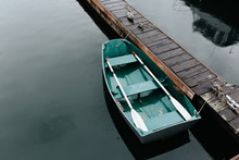 Long Dock With Boat