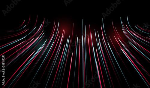 Valokuvatapetti Abstract Optical Fibers - Technology Illustration Communication