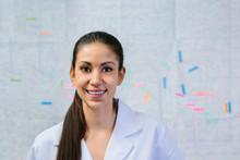 Happy Young Nurse In White Uni...
