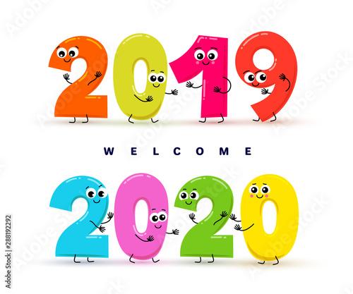 Obraz na plátně  Welcome 2020