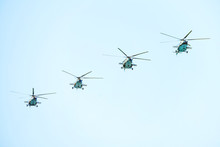Flying Military Helicopters In...