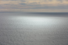 View Of Vast Ocean, Horizon An...