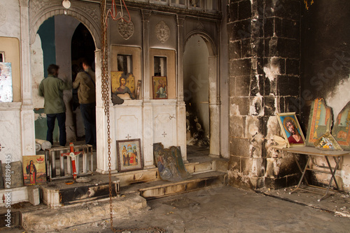 Photo Devastated Orthodox church in Syria