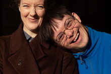 Adoptive Siblings Share Laughter.