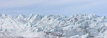 Panorama Of A Glacier.