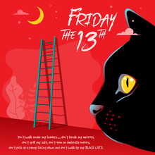 Happy Friday The 13th Vector Illustration