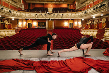 Dancers Rehearsing On Stage