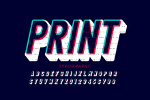 Offset Print Style Font Design...