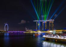 Skyline Of Singapore With Marina Bay, Singapore
