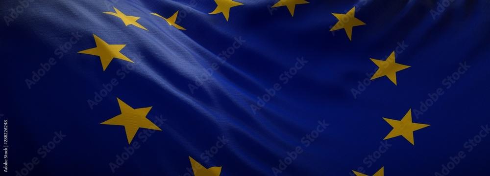 Fototapeta Official flag of European Union. Web Banner