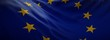 canvas print picture - Official flag of European Union. Web Banner