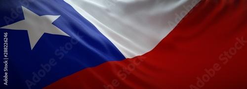 Photo sur Toile Amérique du Sud Official flag of Chile. Web Banner