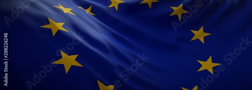 Official flag of European Union. Web Banner