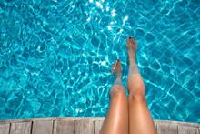 Beautiful Women Legs In Blue W...