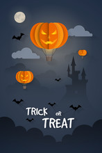 Halloween Greeting Card In Pap...