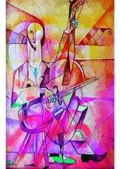 Fototapeta Muzyka / instrumenty Tocando el Violoncjhelo