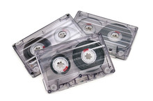 Audio Cassettes Isolated On Wh...