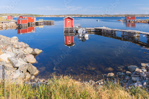 Slika na platnu The fishing village of Joe Batt's Arm, Fogo Island, Newfoundland and Labrador, C