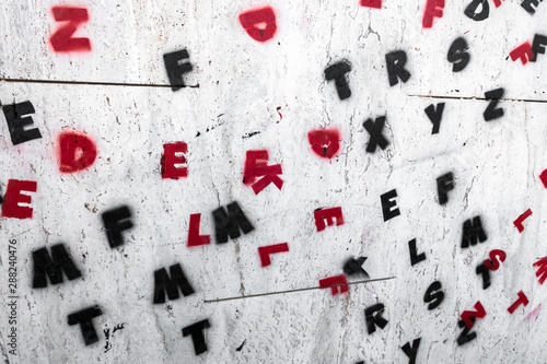 Letters on wall - 288240476