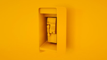Public Payphone. Minimal Idea Concept. 3d Illustration