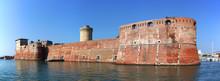 Moated Fortezza Vecchia Castle...