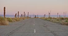Sunset At Salton Sea, California