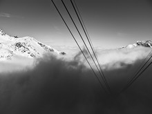 Italian Mountains In Bw