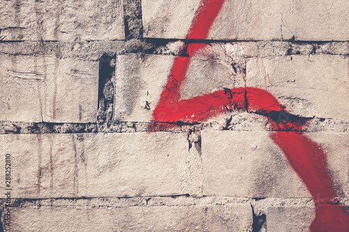 Weathered graffiti wall background Wallpaper Mural