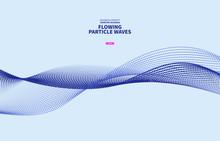 Vector Blue Particle Curve Background