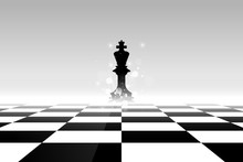 Chess Board. Abstract Backgrou...