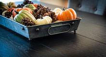 Table Centerpiece Of Fall Harv...