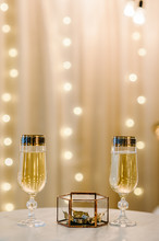 Glasses Of Champagne With Wedd...