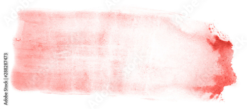Abstract watercolor background hand-drawn on paper. Volumetric smoke elements. Red color. For design, web, card, text, decoration, surfaces.