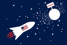 American Dream Rocket Fly To T...