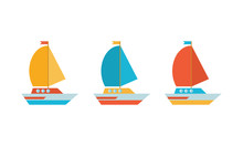 Set Of Icons In A Flat Vector....