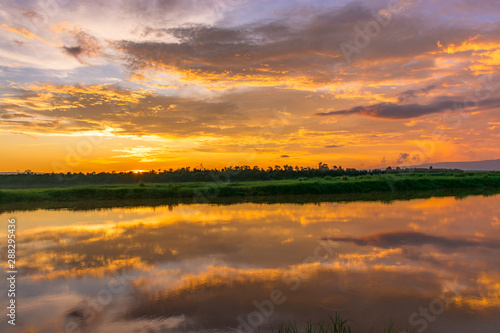Scenic View Of Dramatic Sky During Sunset #288295436