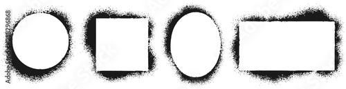 Fotografiet Grunge stencil frames