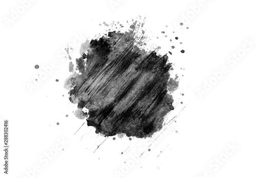 Fotografija  Ink splash collection.Set of black ink blots.