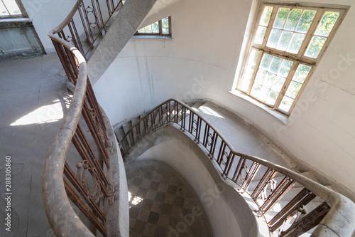 Tela  Stairway at interior of former historical barracks, officers building Haus der