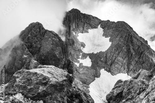 Alpinismo al Gran Sasso Canvas Print