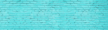 Pastel Blue Brick Wall Wide Pa...