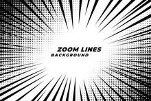 Comic Zoom Lines Motion Backgr...