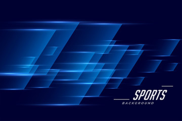 blue sports background in speed effect style