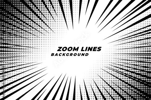 comic zoom lines motion background with halftone effect - 288308038