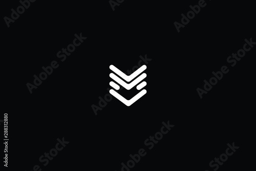 Vászonkép  Letter M House Logo Design