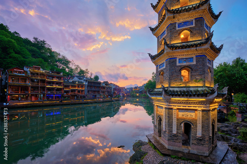 Feng Huang Ancient Town (Phoenix Ancient Town) , China - 288337473