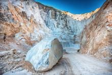 Large Boulder Of White Carrara...