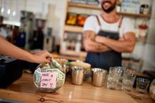 Tips Jar - Money Left For Empl...