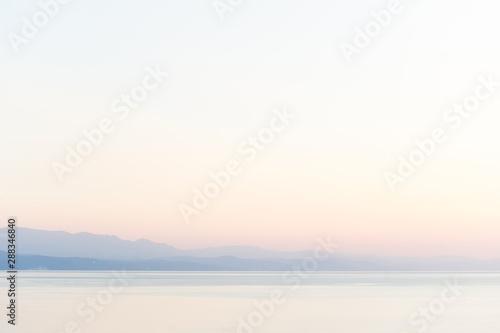 Papiers peints Blanc Amazing summer sunset view on the horizont