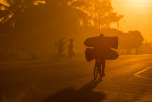 A Mozambican Cyclist Carrying ...